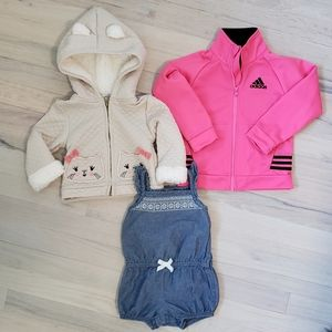 **BUNDLE/LOT** Adidas Zip-Up and more 12-24 Months